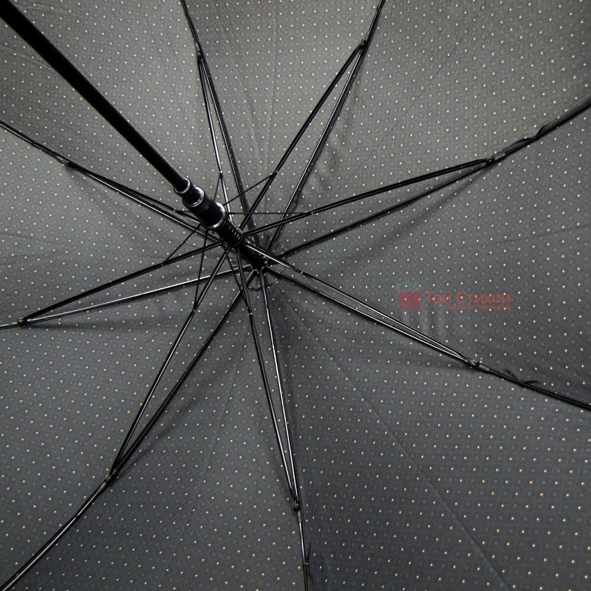 Зонт-трость Derby 77167P-1 полуавтомат Серый в ромбы, фото 5