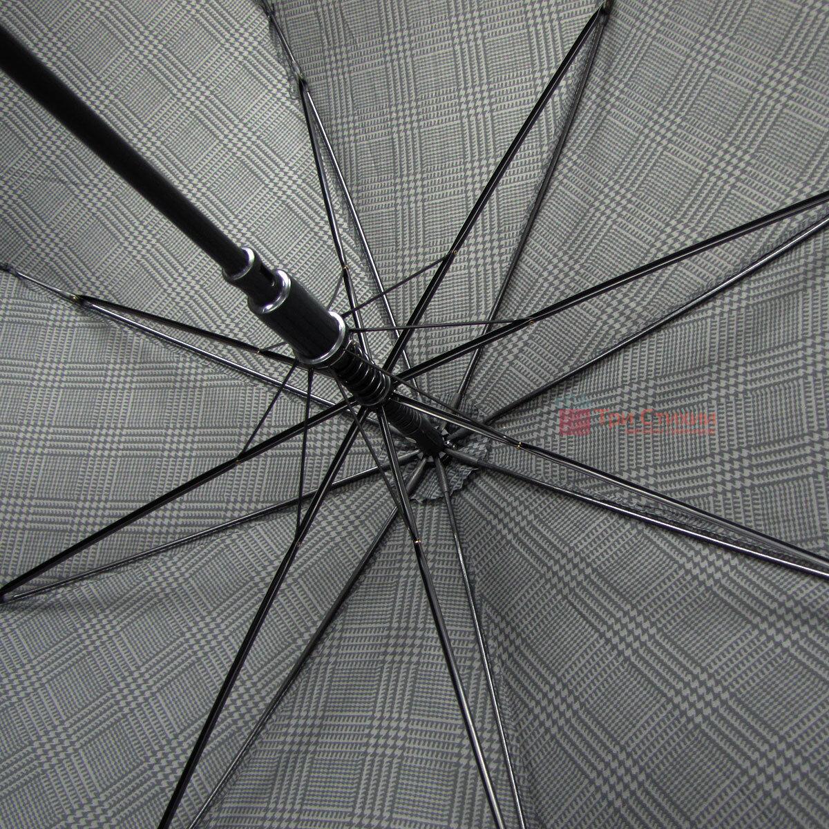 Зонт-трость Derby 77167P-2 полуавтомат Крупная клетка, фото 4