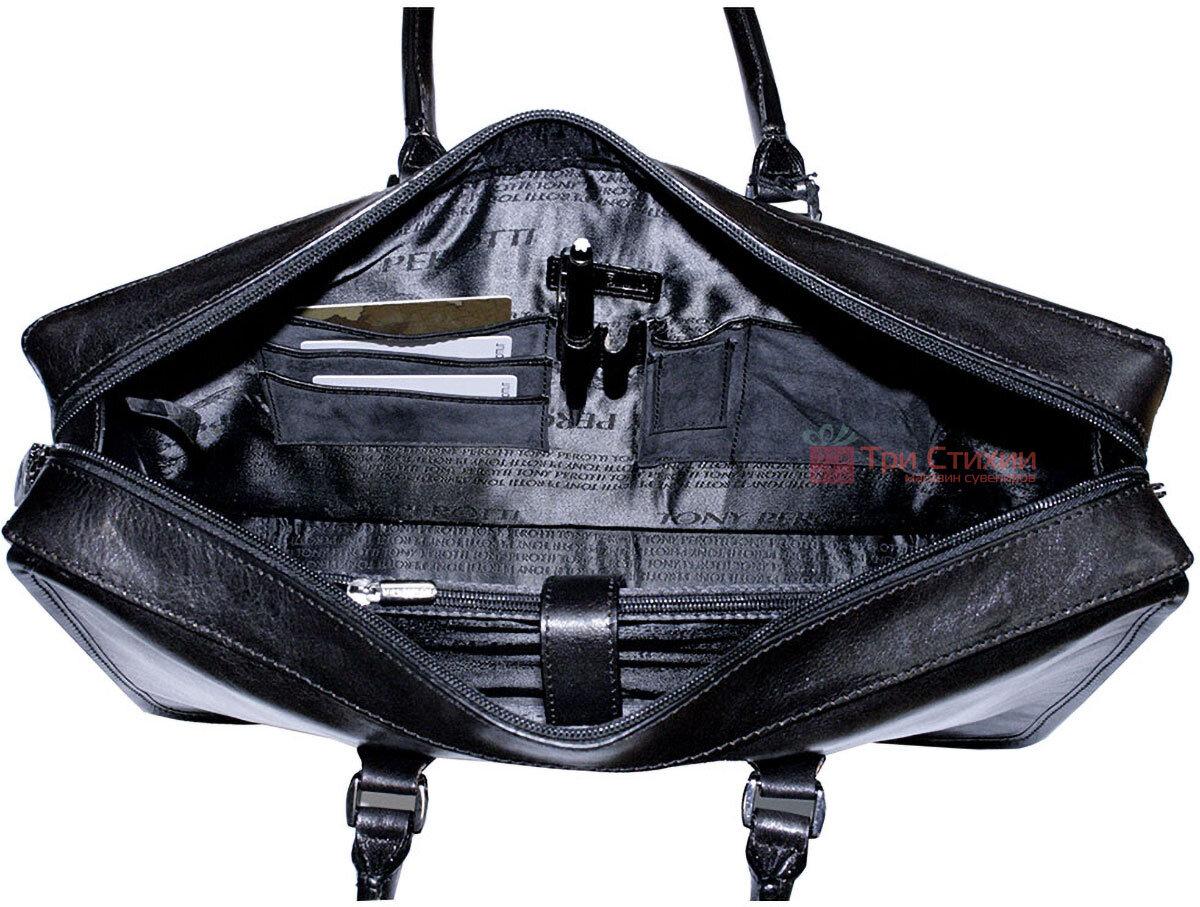 Сумка -портфель Tony Perotti Italico 8098-it nero Чорна, фото 5