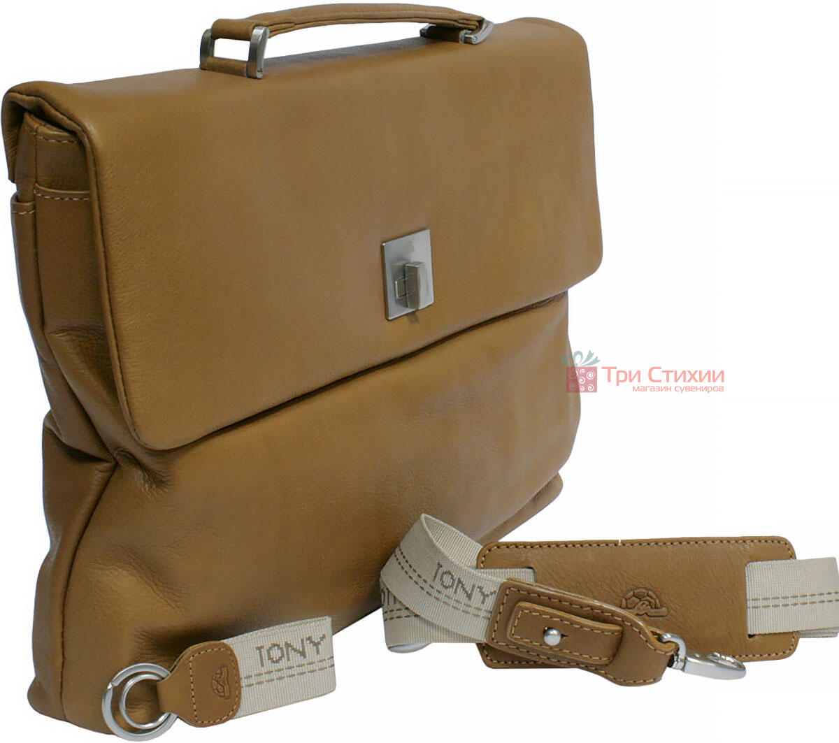 Портфель Tony Perotti Contatto 9160-35-Ct cuoio Світло-коньячний, Колір: Коньяк, фото