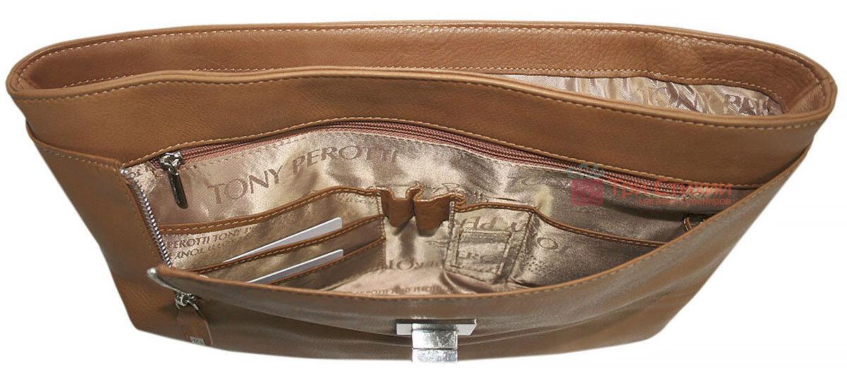 Портфель Tony Perotti Contatto 9160-35-Ct cuoio Світло-коньячний, Колір: Коньяк, фото 6