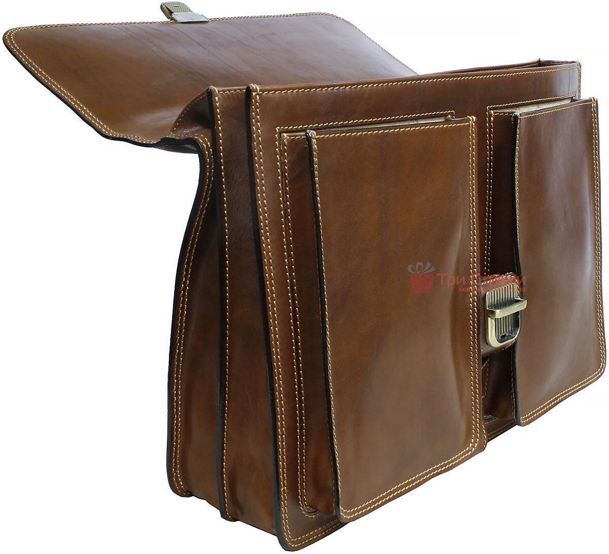 Портфель Tony Perotti Italico 8013-it cognac Коньячный, фото 5