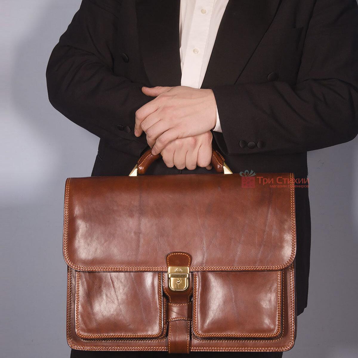 Портфель Tony Perotti Italico 8013-it cognac Коньячный, фото 6