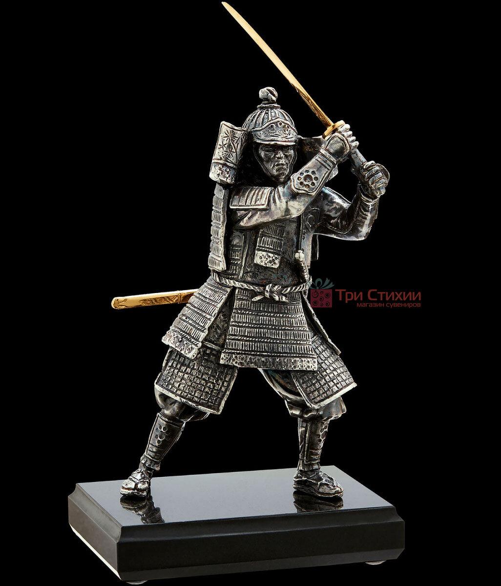 Статуэтка из бронзы «Самурай» с мечом Vizuri (Визури) W01, фото 3