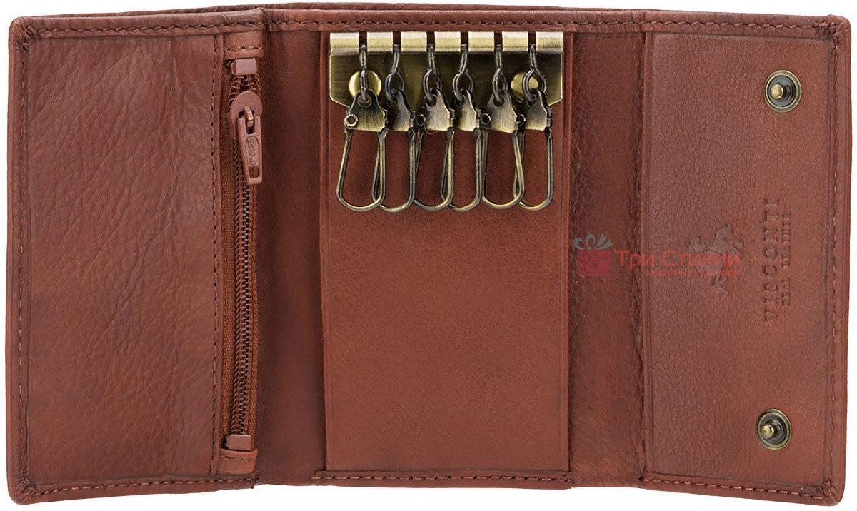 Ключница Visconti 1178 (Brown) кожаная Коричневая, Цвет: Коричневый, фото