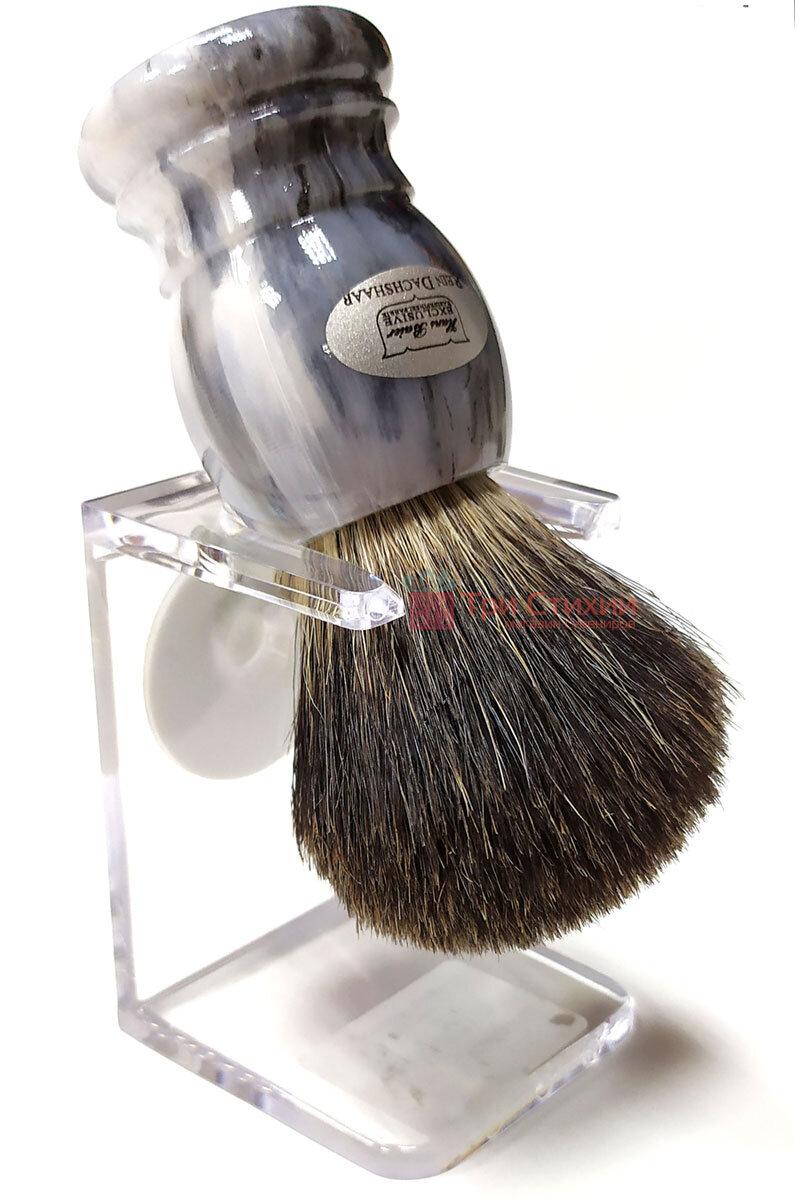 Помазок барсук на подставке Hans Baier 51031-1 Серый, фото