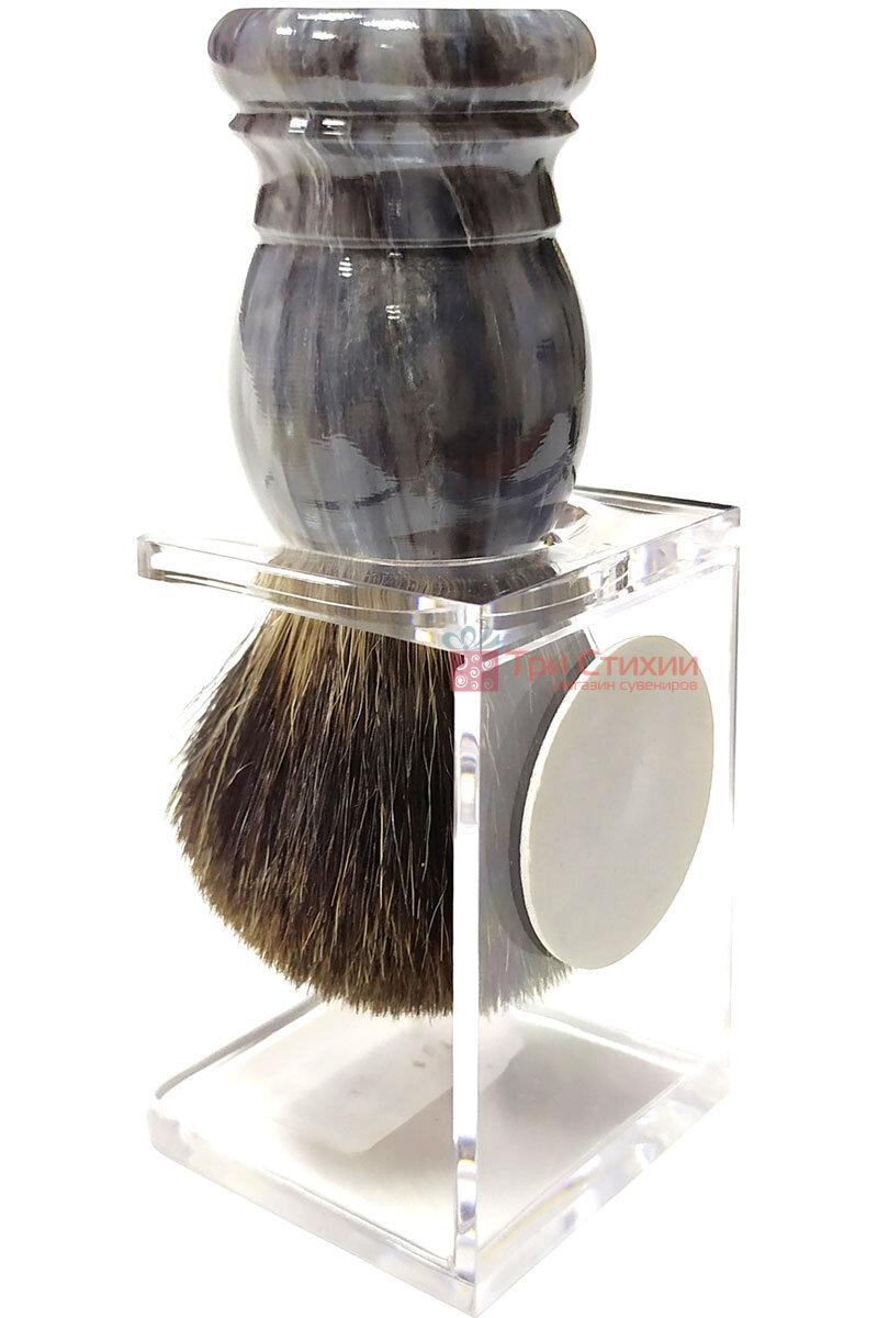 Помазок барсук на подставке Hans Baier 51031-1 Серый, фото 2