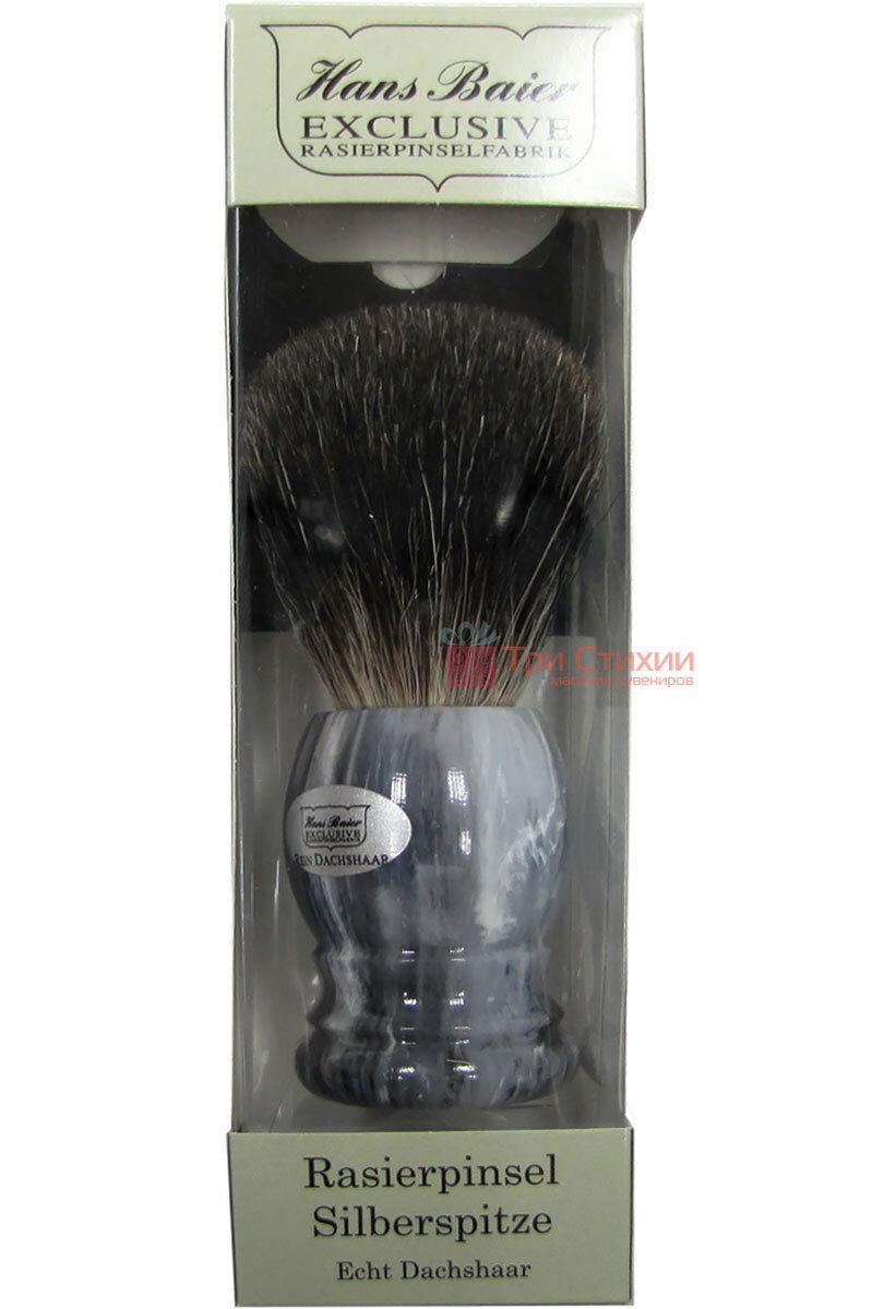 Помазок для гоління борсук Hans Baier 51031 Сірий, фото 2