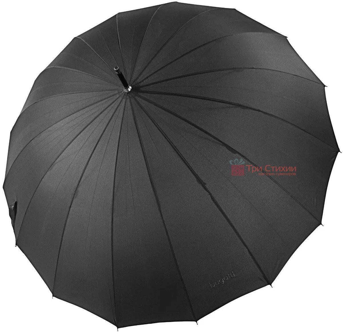 Зонт-трость Bugatti 71763BU001 механический Черный, фото