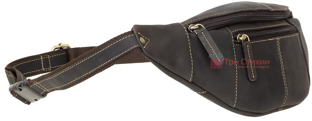 Сумка на пояс Visconti 721 Bumbag Large (Oil Brown) Темно-коричнева, фото 2