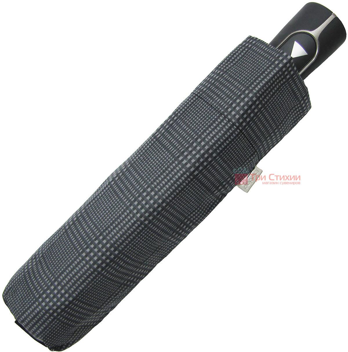 Парасоля складана Doppler Carbon 730167-1 напівавтомат Велика клітинка, фото 4