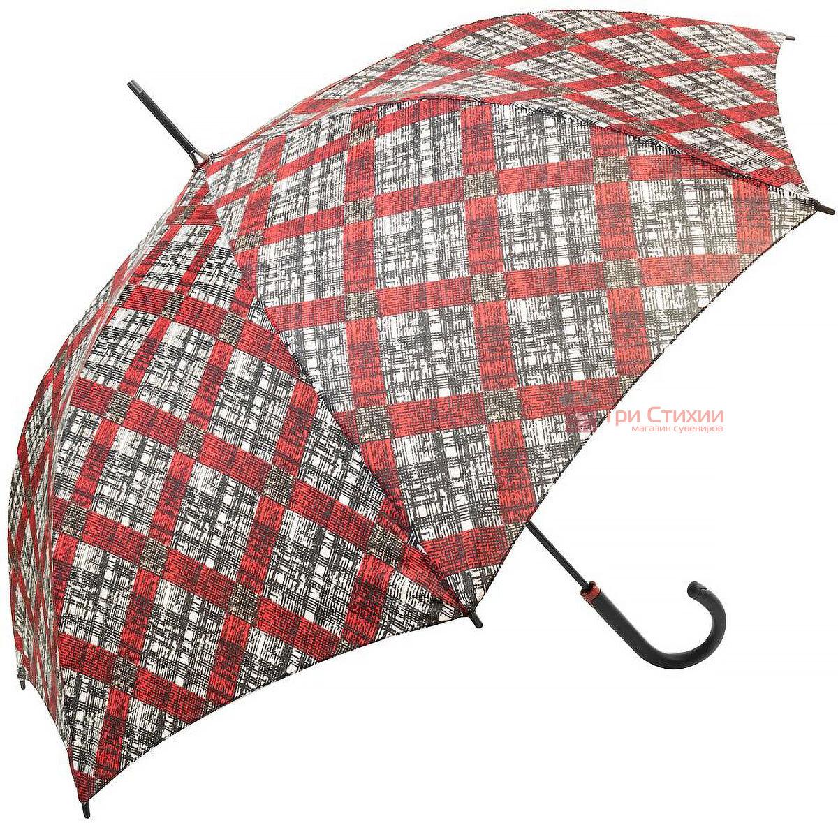 Зонт-трость Doppler 740765К-2 полуавтомат Красная клетка, Цвет: Красный, фото