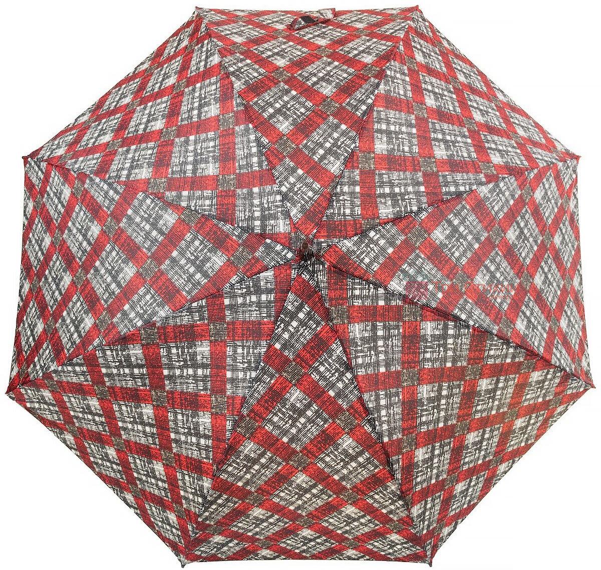 Зонт-трость Doppler 740765К-2 полуавтомат Красная клетка, Цвет: Красный, фото 2