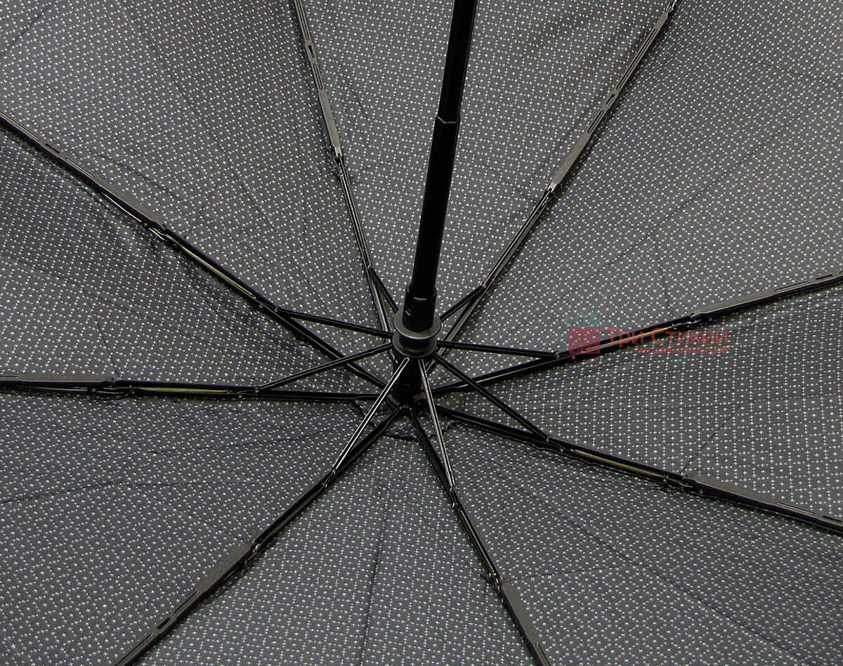 Зонт складной Bugatti 74667BU полный автомат Серый, фото 5