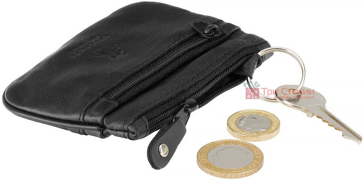 Ключниця Visconti CP3 (Black) шкіряна Чорна, Колір: Чорний, фото 4