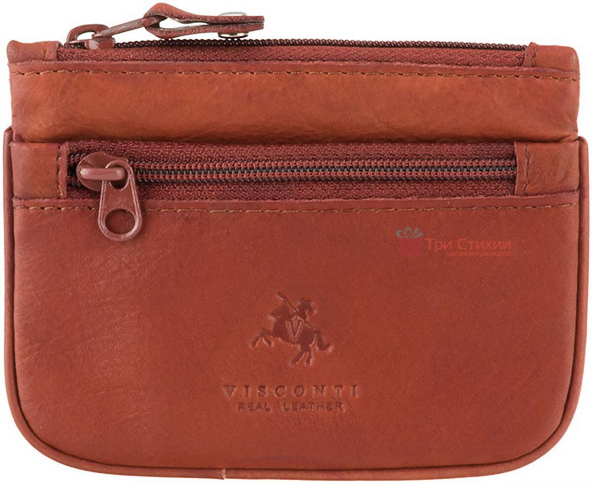 Ключница Visconti CP3 (Brown) кожаная Коричневая, Цвет: Коричневый, фото
