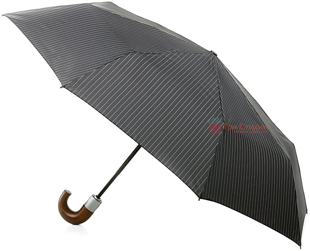 Зонт складной Fulton Chelsea-2 G818 Grey полный автомат Серый (G818-014936), фото