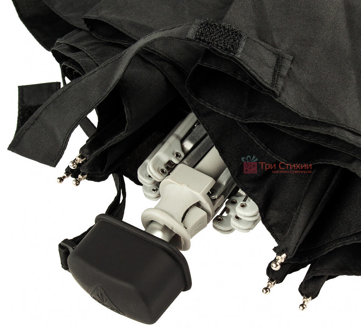 Зонт складной Fulton Ultralite-1 L349 механический  Черный (L349-000410), фото 5