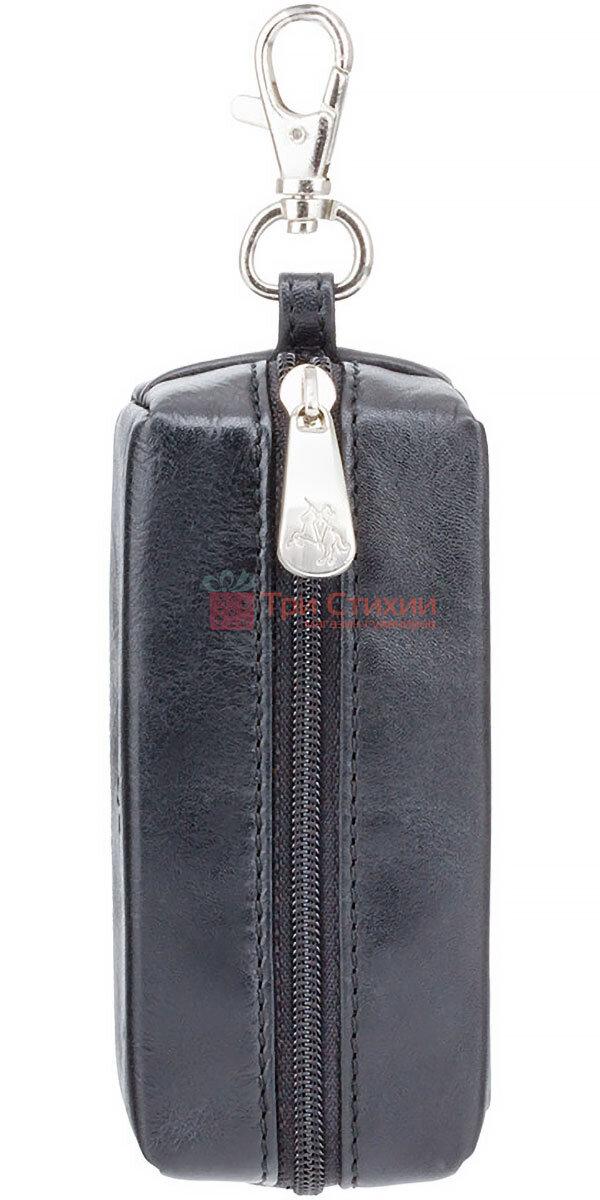 Ключниця Visconti MZ18 Prato (Italian Black) шкіряна Чорна, фото