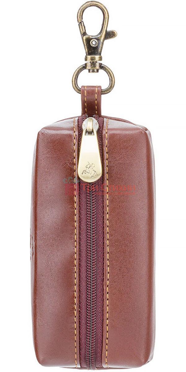 Ключниця Visconti MZ18 Prato (Italian Brown) шкіряна Коричнева, фото