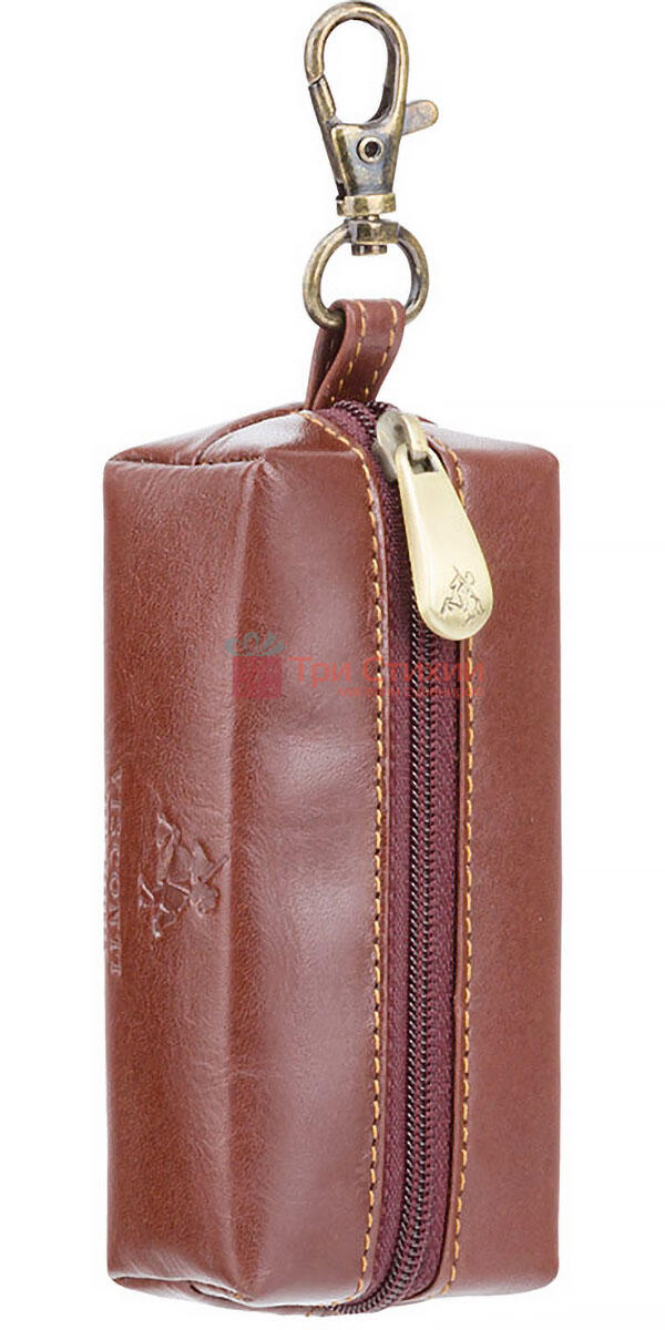 Ключниця Visconti MZ18 Prato (Italian Brown) шкіряна Коричнева, фото 2
