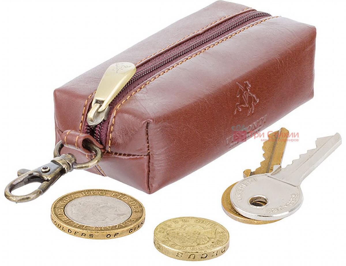 Ключниця Visconti MZ18 Prato (Italian Brown) шкіряна Коричнева, фото 4