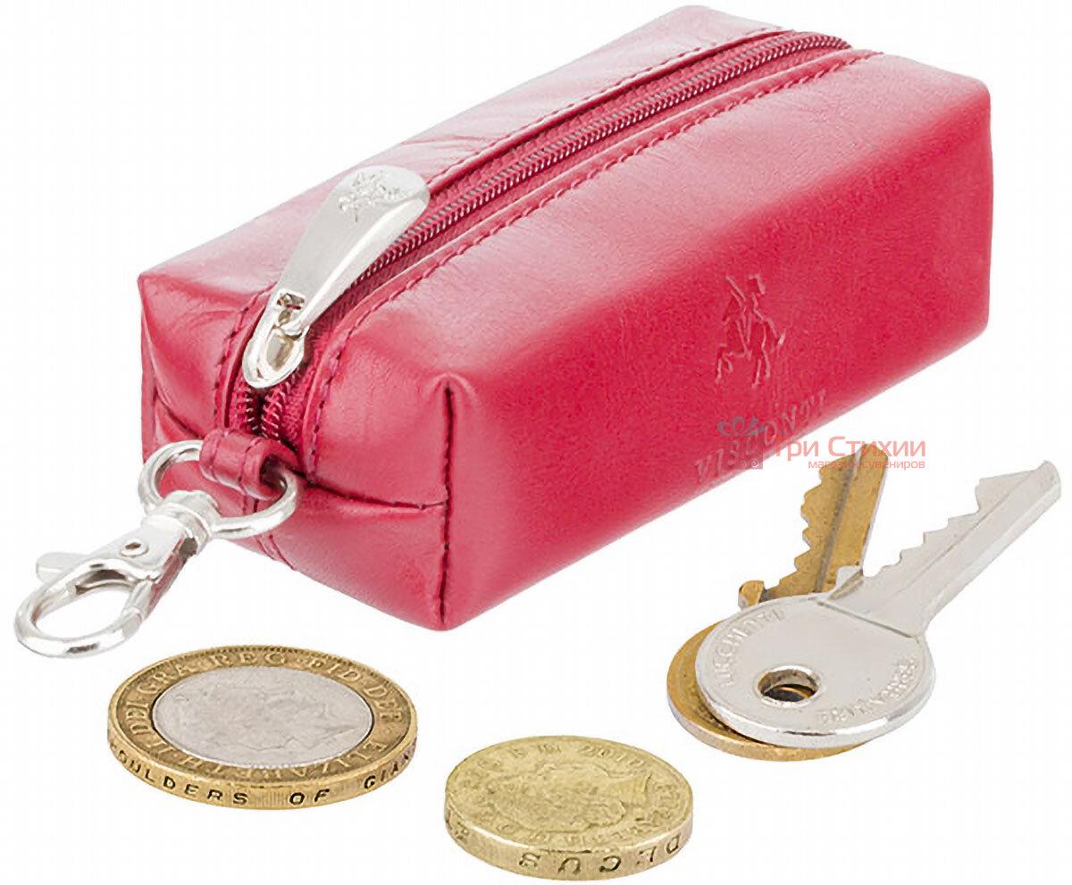 Ключница Visconti MZ18 Prato (Italian Red) кожаная Красная, Цвет: Красный, фото 4