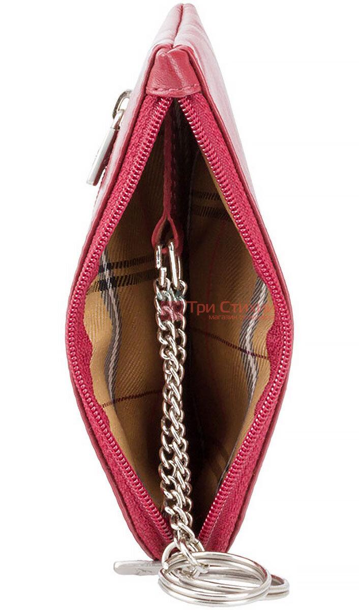 Ключница Visconti MZ19 Geno (Italian Red) кожаная Красная, Цвет: Красный, фото 3