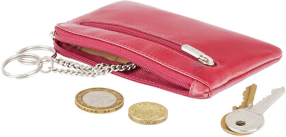 Ключница Visconti MZ19 Geno (Italian Red) кожаная Красная, Цвет: Красный, фото 4