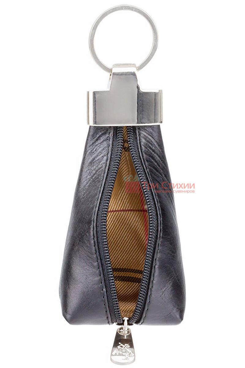 Ключница Visconti MZ20 Verona (Italian Black) кожаная Черная, Цвет: Черный, фото 3