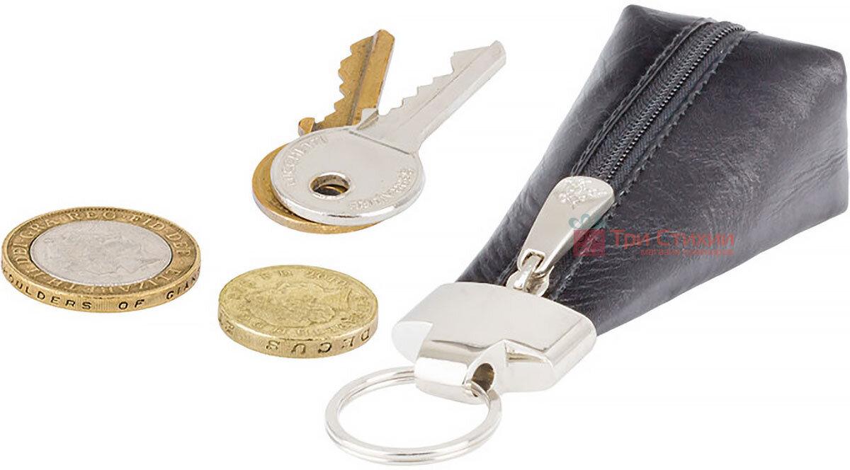 Ключница Visconti MZ20 Verona (Italian Black) кожаная Черная, Цвет: Черный, фото 4