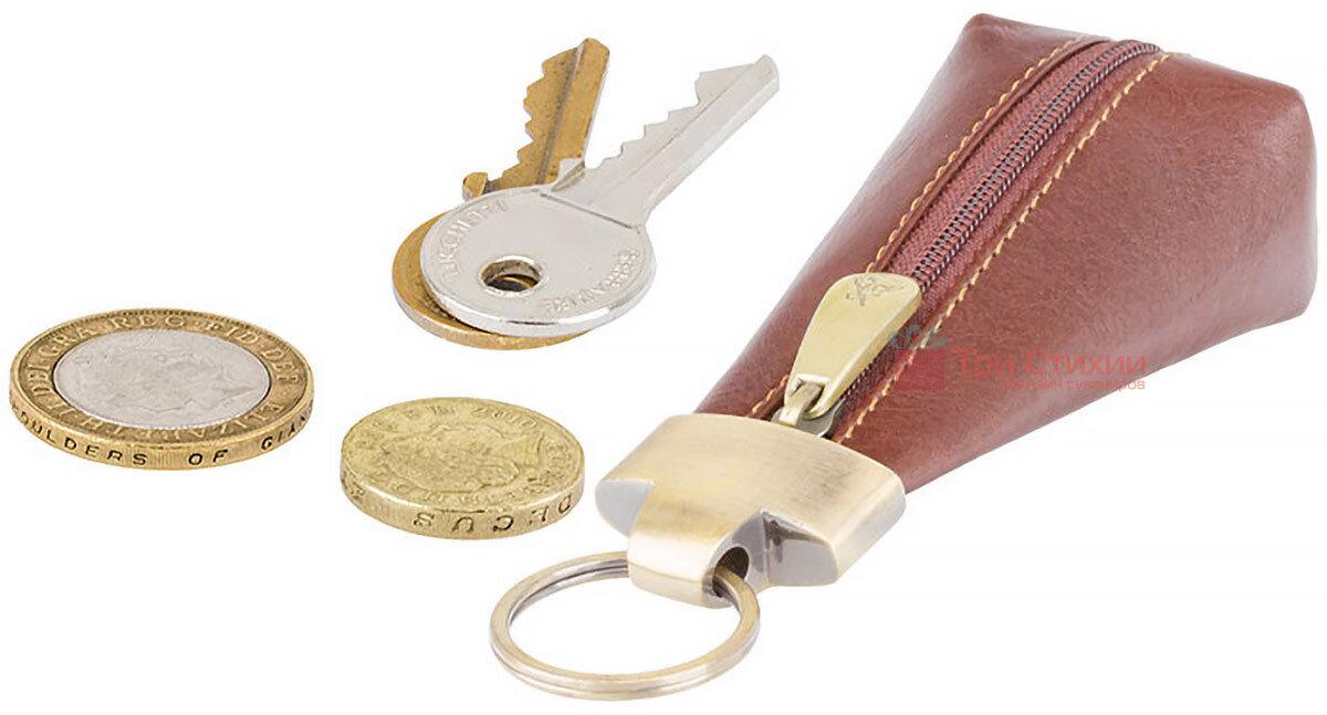 Ключница Visconti MZ20 Verona (Italian Brown) кожаная Коричневая, Цвет: Коричневый, фото 4
