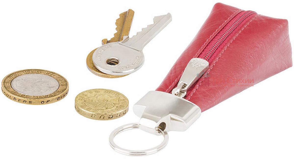 Ключница Visconti MZ20 Verona (Italian Red) кожаная Красная, Цвет: Красный, фото 4