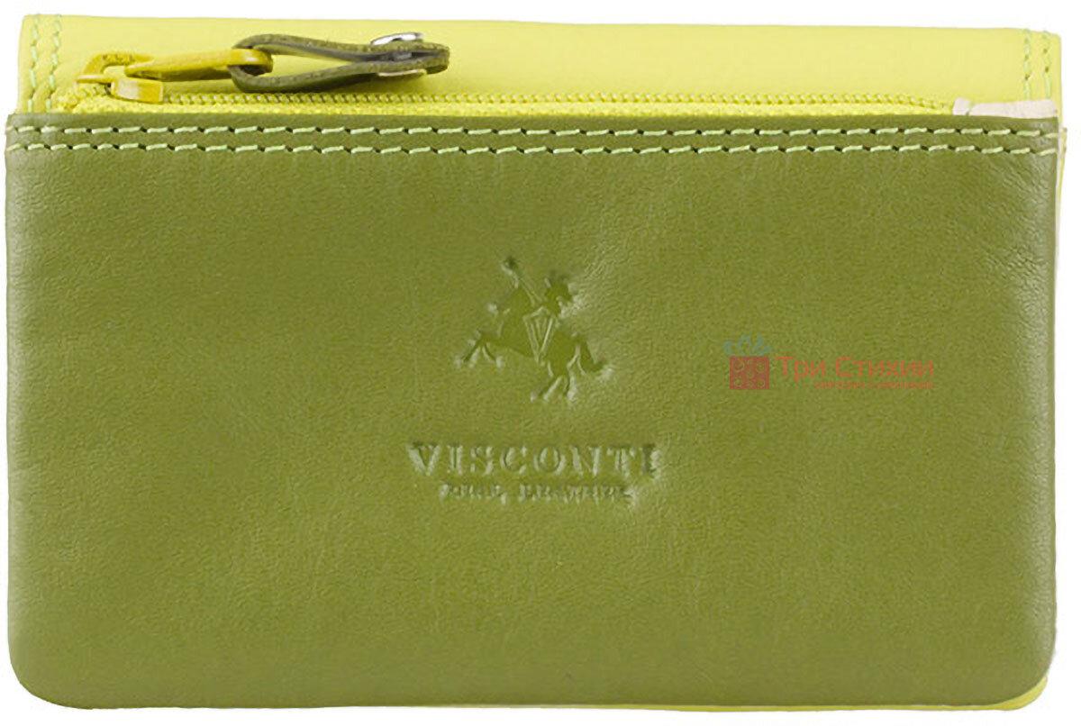 Ключница Visconti RB99 Tahiti (Lime Multi) кожаная Салатовая, фото 4