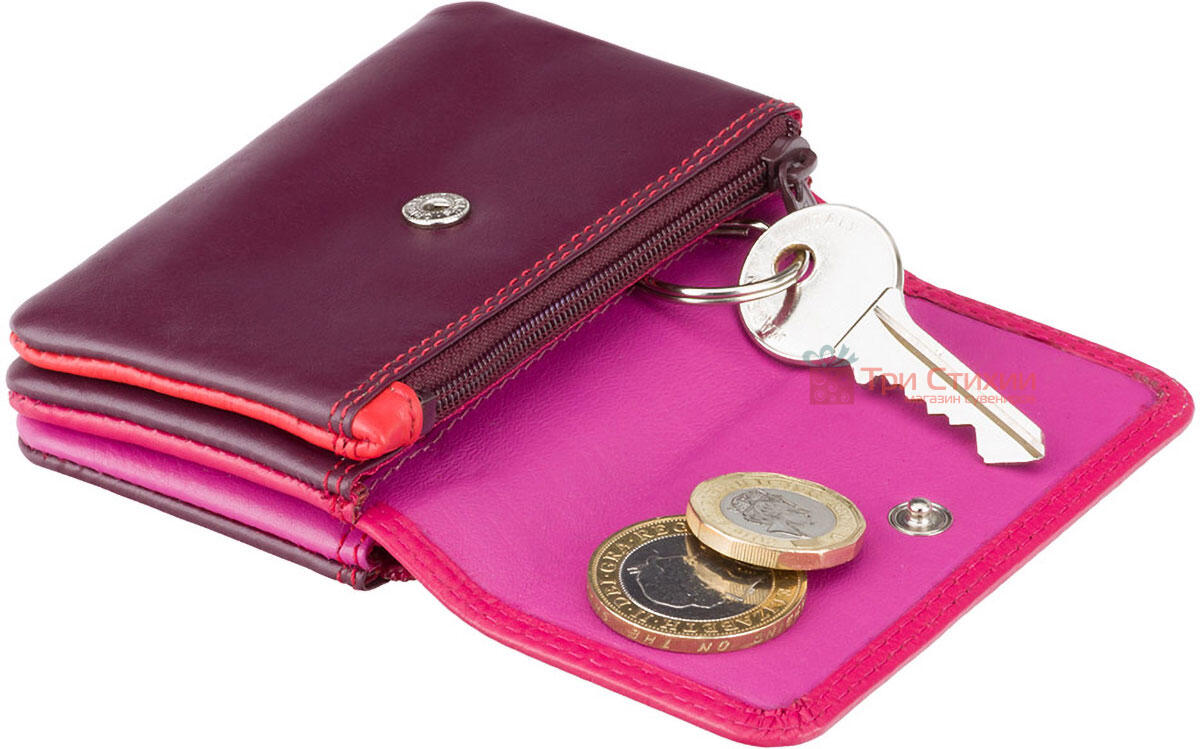 Ключница Visconti RB99 Tahiti (Plum Multi) кожаная Розовая, Цвет: Розовый, фото 2