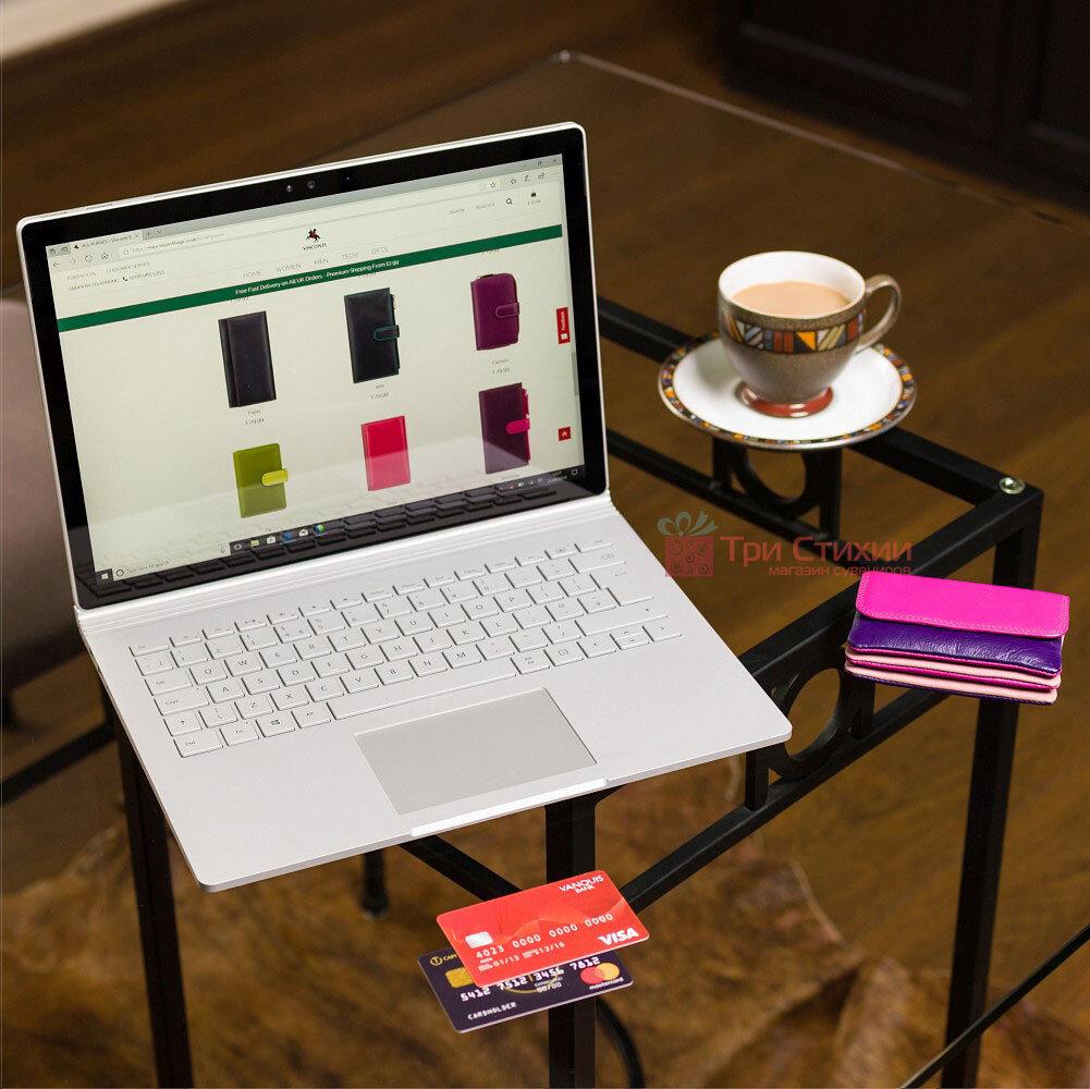 Ключница Visconti RB99 Tahiti (Plum Multi) кожаная Розовая, Цвет: Розовый, фото 5
