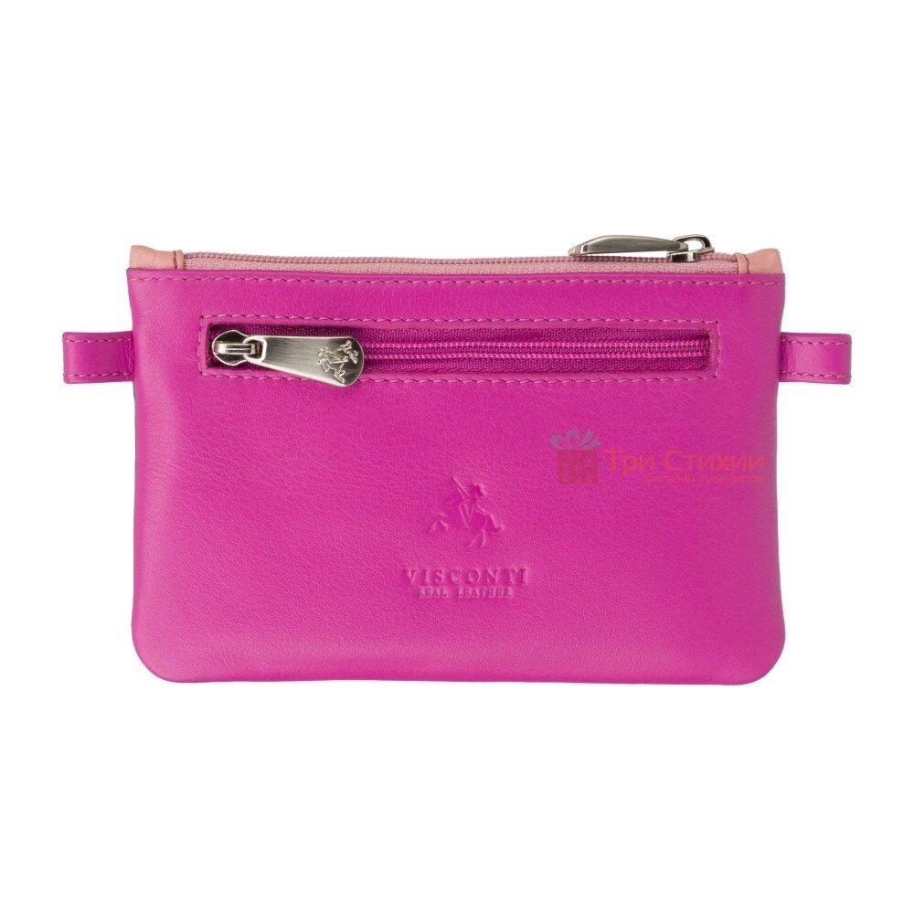 Ключница Visconti CP2 Cora (Berry Multi) кожаная Розовая, Цвет: Розовый, фото