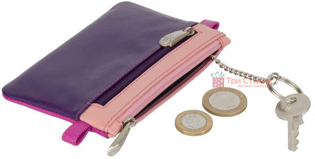 Ключница Visconti CP2 Cora (Berry Multi) кожаная Розовая, Цвет: Розовый, фото 4