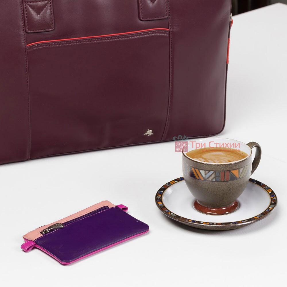 Ключница Visconti CP2 Cora (Berry Multi) кожаная Розовая, Цвет: Розовый, фото 5