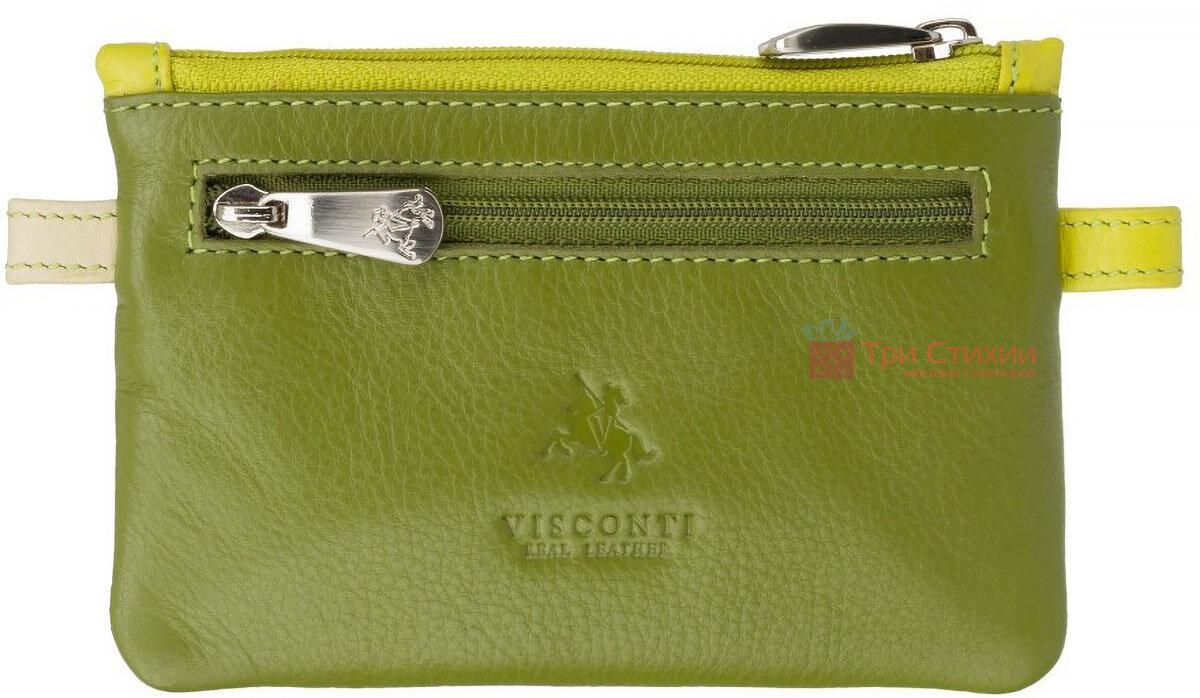 Ключница Visconti CP2 Cora (Lime Multi) кожаная Салатовая, Цвет: Салатовый, фото