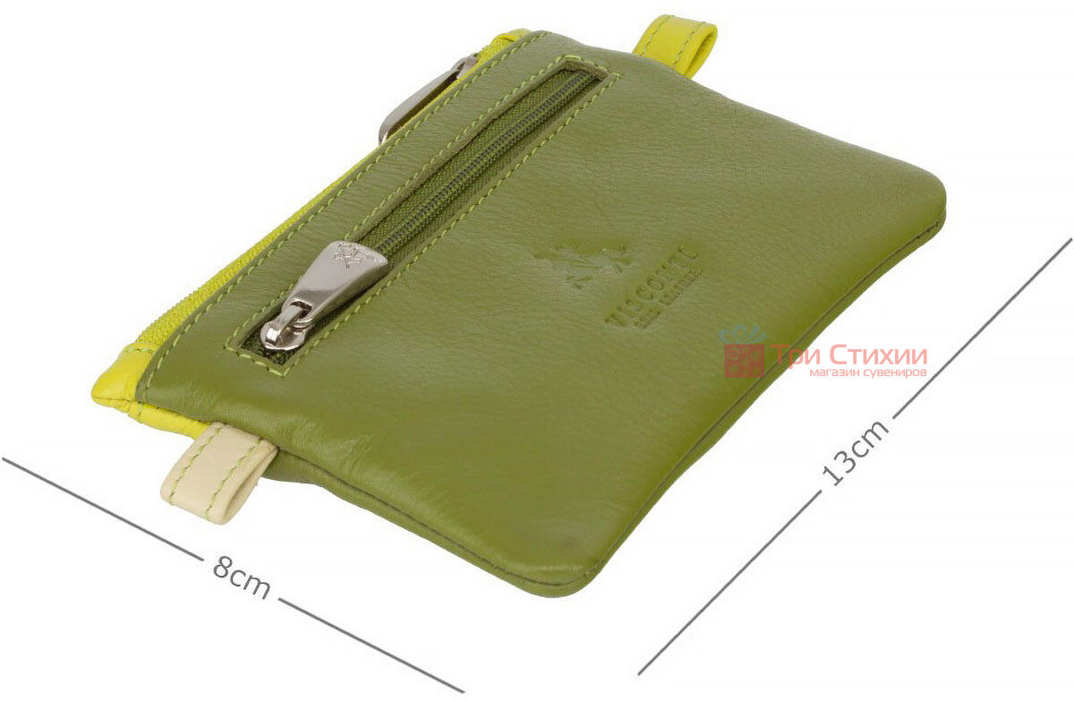 Ключница Visconti CP2 Cora (Lime Multi) кожаная Салатовая, Цвет: Салатовый, фото 3
