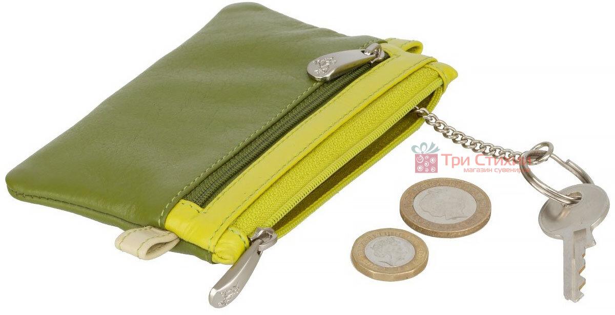Ключница Visconti CP2 Cora (Lime Multi) кожаная Салатовая, Цвет: Салатовый, фото 4