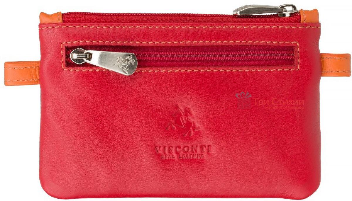 Ключница Visconti CP2 Cora (Red Multi) кожаная Красная, Цвет: Красный, фото