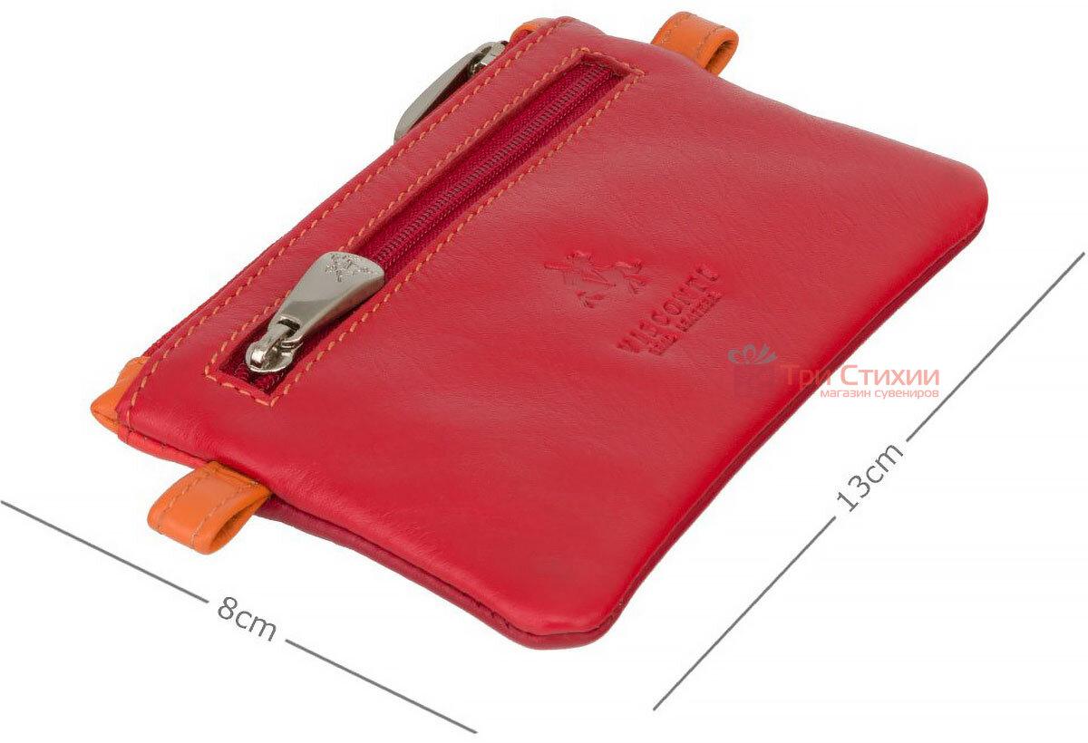 Ключница Visconti CP2 Cora (Red Multi) кожаная Красная, Цвет: Красный, фото 3