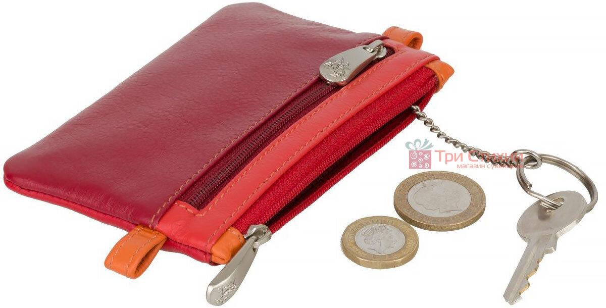 Ключница Visconti CP2 Cora (Red Multi) кожаная Красная, Цвет: Красный, фото 4