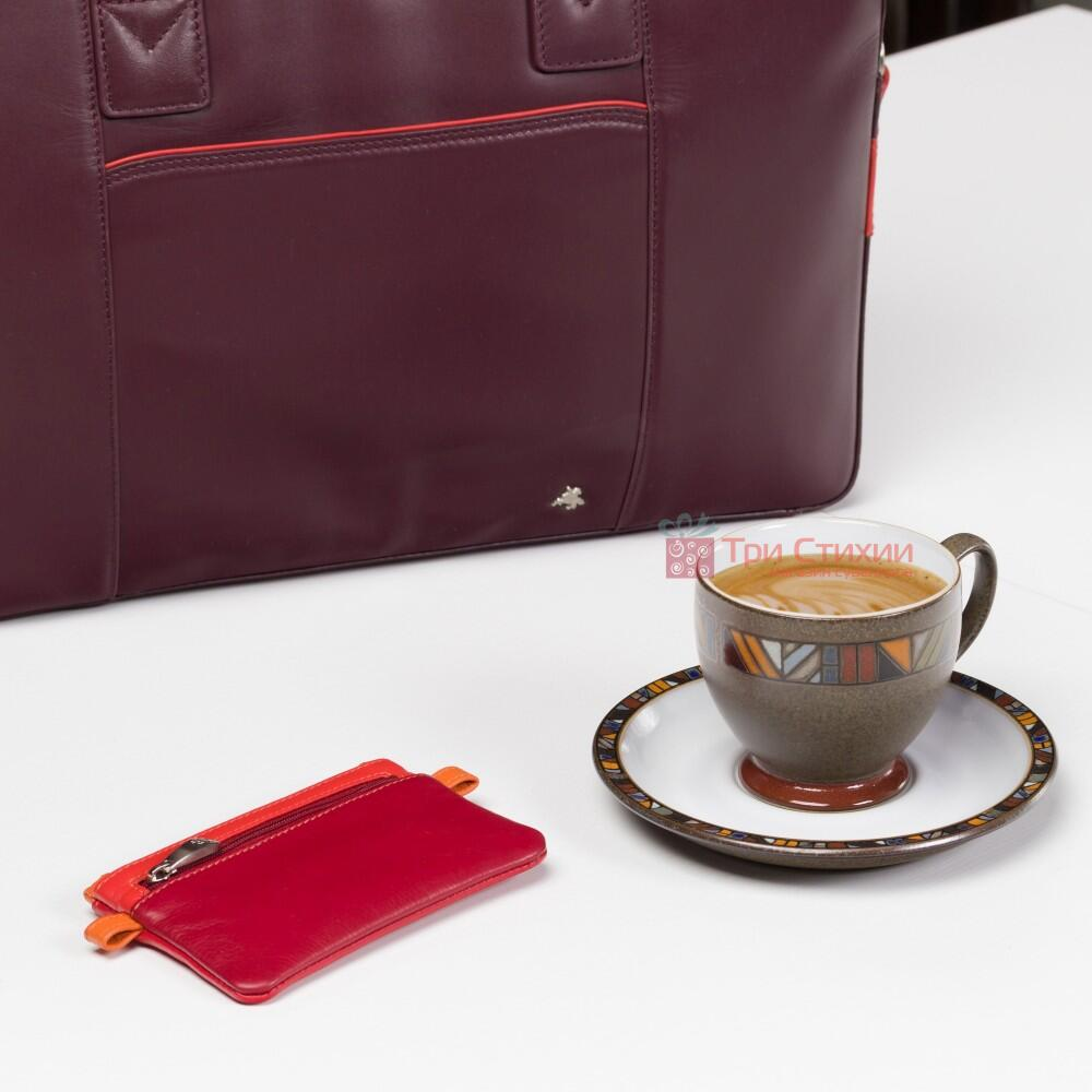 Ключница Visconti CP2 Cora (Red Multi) кожаная Красная, Цвет: Красный, фото 5