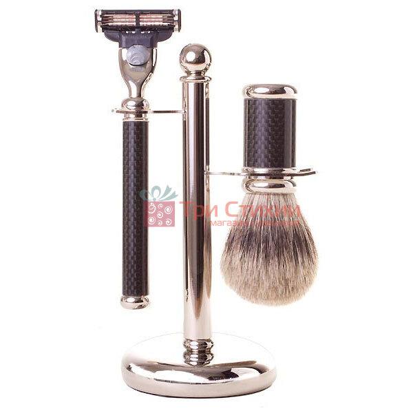 Набор для бритья Rainer Dittmar 1602-14-6 Gillette Mach3 Черный карбон, фото
