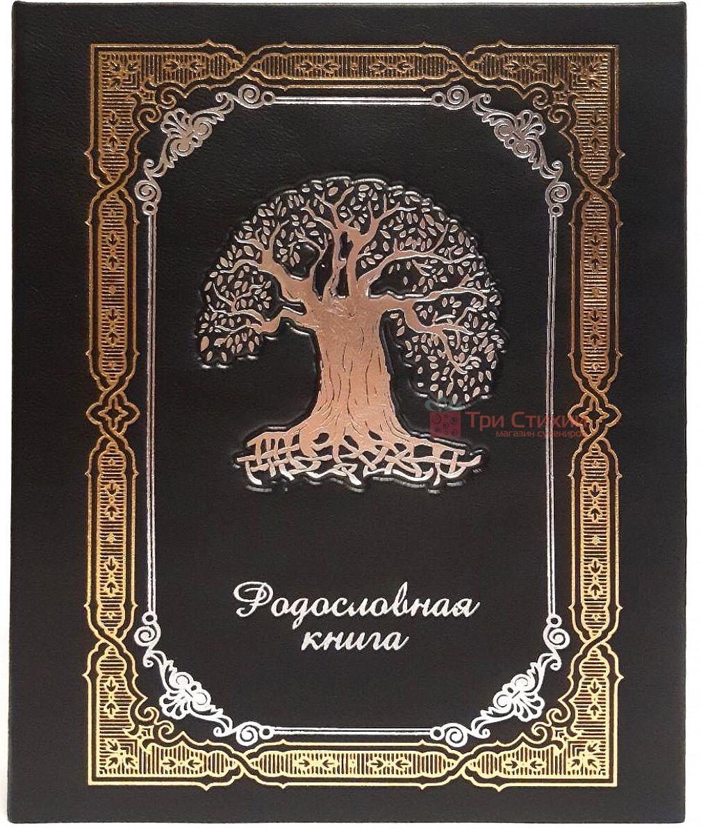 Родословная книга Макей кожаная (620-07-09 Ч) Черная, фото