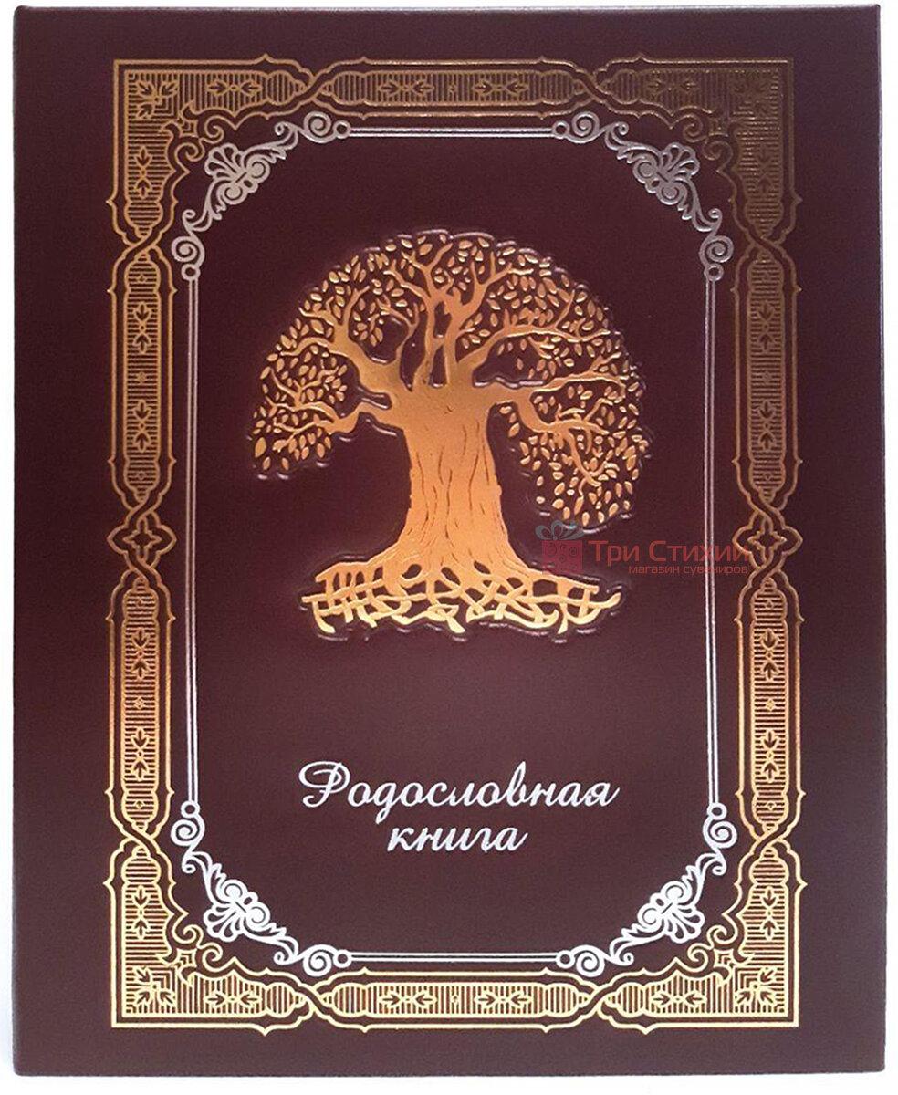 Родословная книга Макей кожаная (620-07-09 Б) Бордовая, Цвет: Бордовый, фото