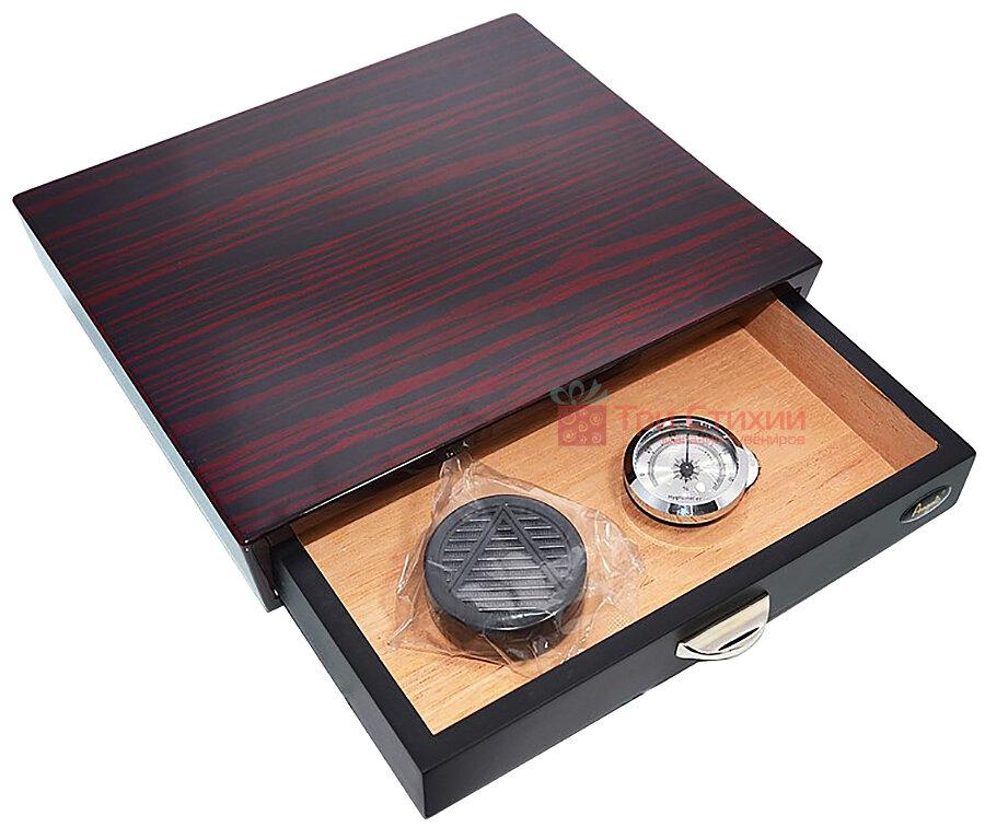 Х'юмідор Angelo на 10 сигар Темно-червоний (920016), фото